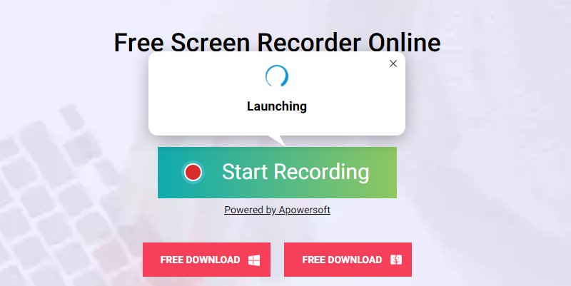 launch free screen recorder