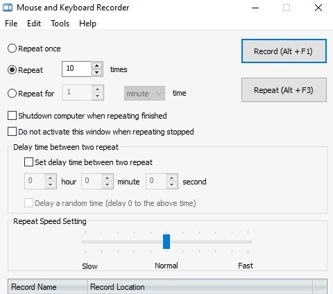 mouse and keyboard recorder robosoft