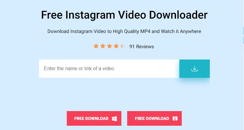 instagram to mp4 converter fivd interface