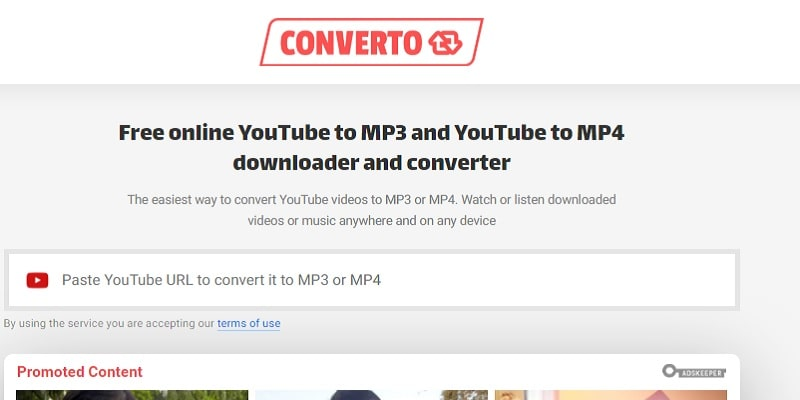 best youtube to mp4 converter converto