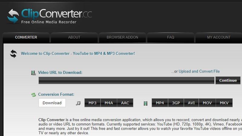 youtube to mp3 not working clipconverter interface
